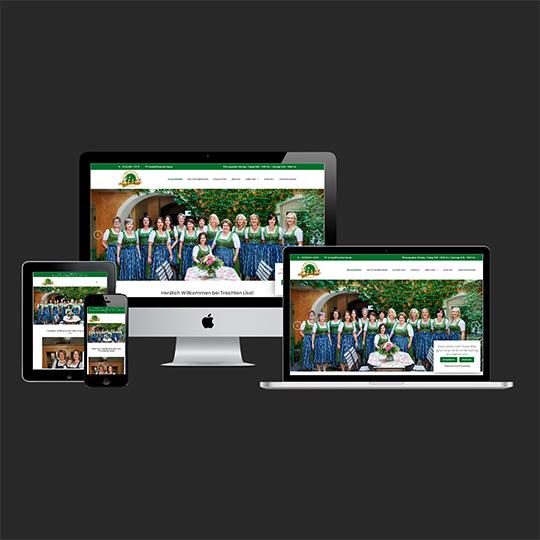 Webdesign, Homepage, Referenz - Trachtenlisa Straubing